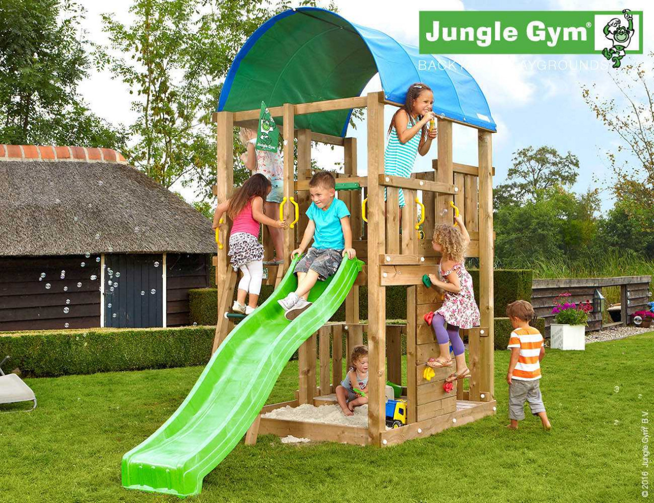 Spielturm Jungle Gym Farm in Douglasie natur