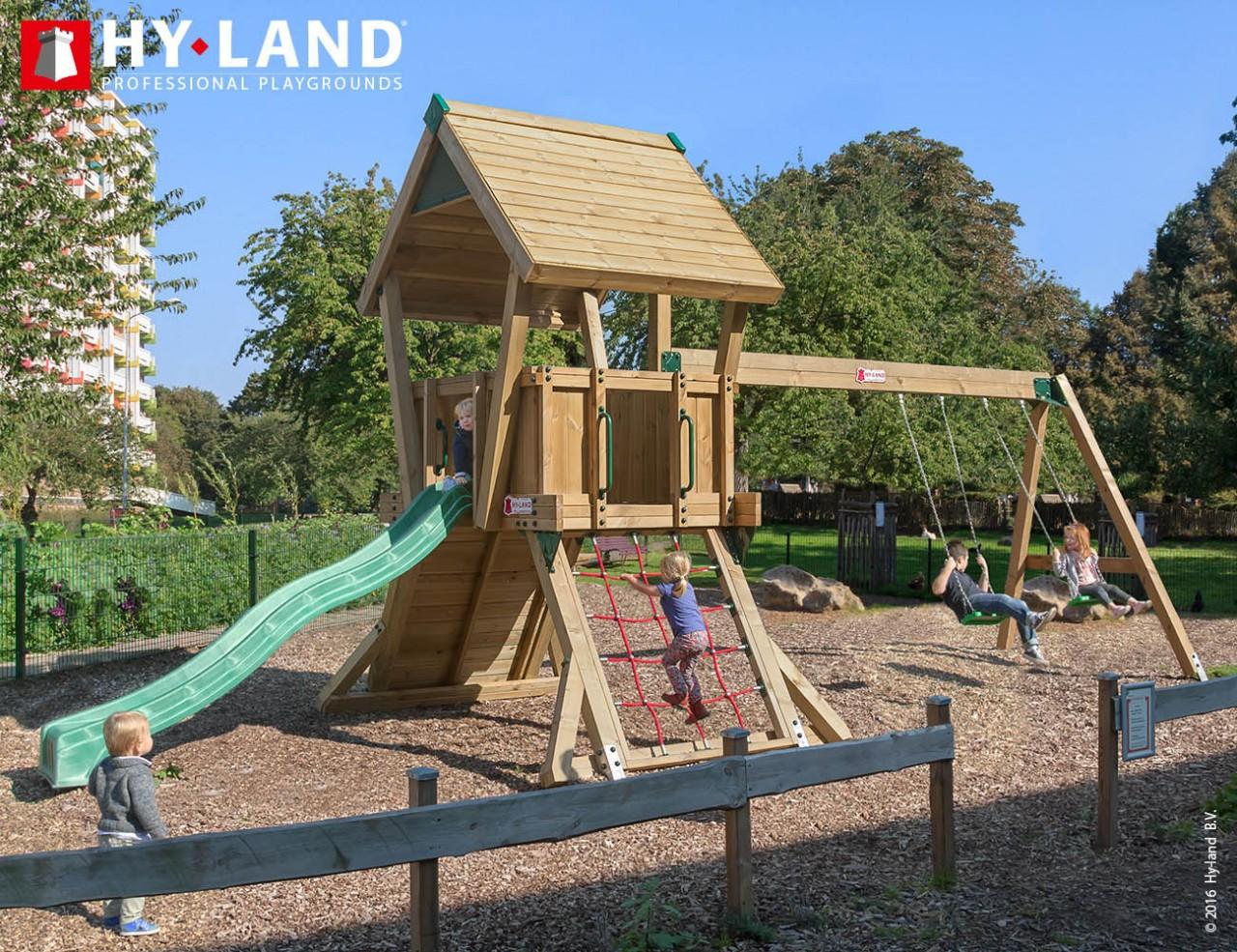 Spielturm Hy-Land Q2-S in Douglasie