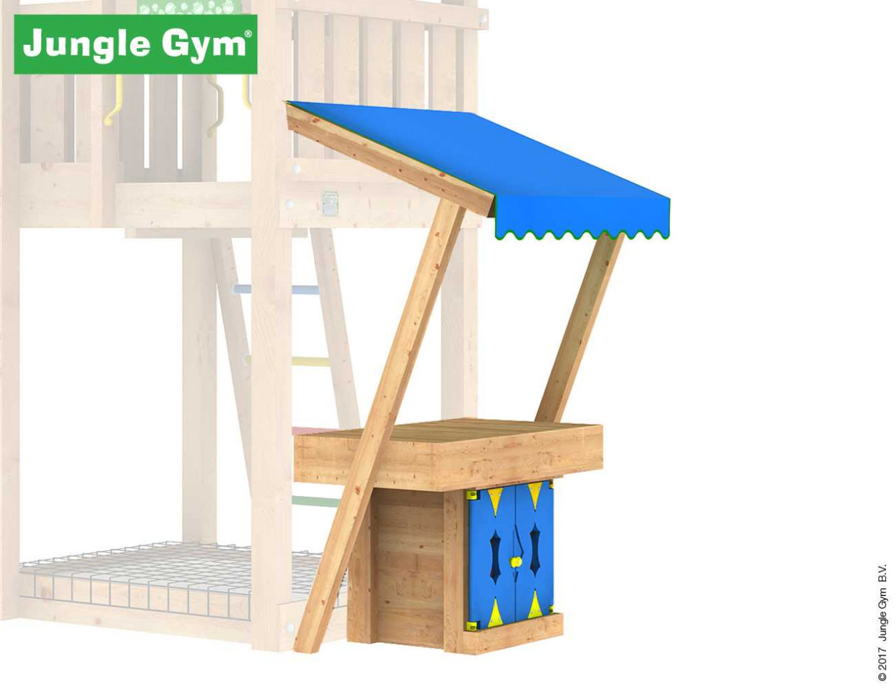 Jungle Gym Markt Modul in Douglasie natur