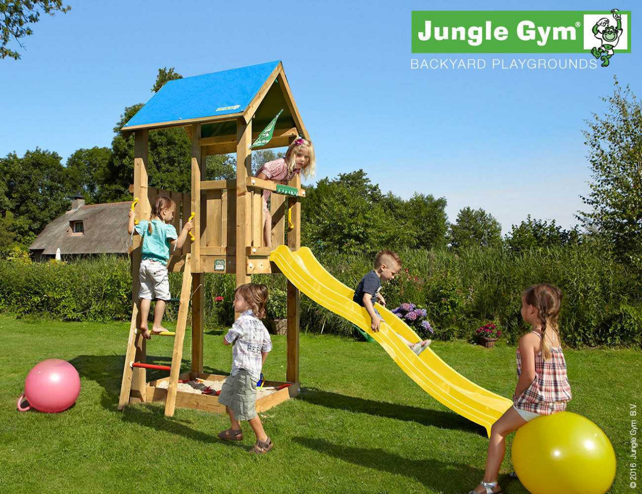 Spielturm Jungle Gym Castle in Douglasie