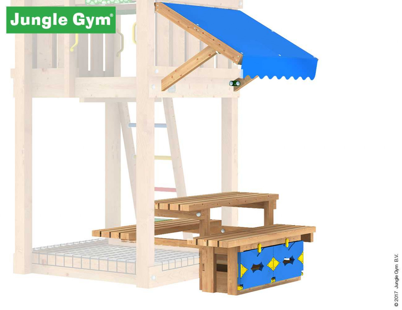 Jungle Gym Picknick-120-Modul in Douglasie natur