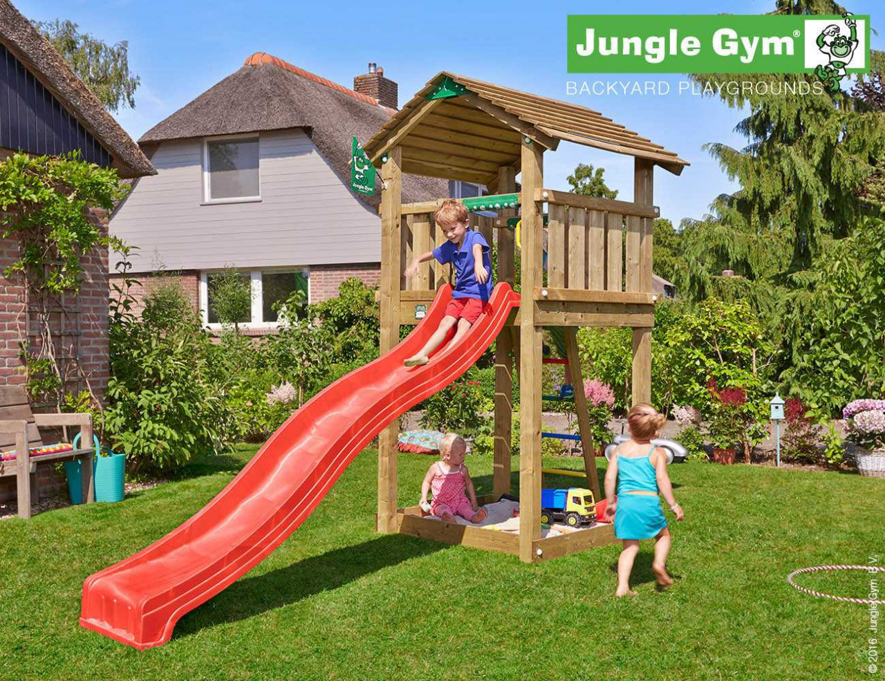 Spielturm Cottage von Jungle Gym in Douglasie