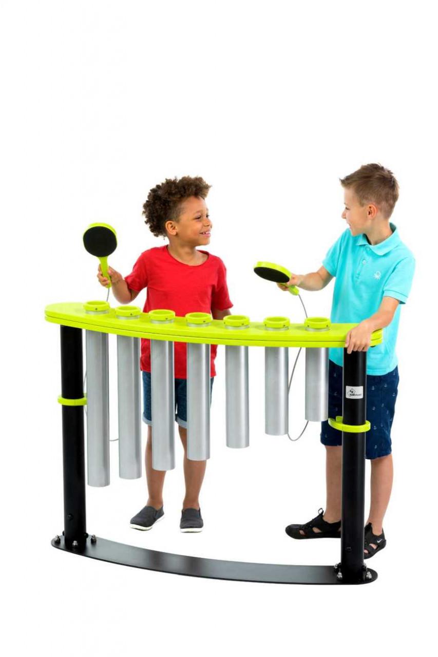 Röhren Schlaginstrument Clappo, für Kinder Spielplätze, Schulen, Parks und Gärten
