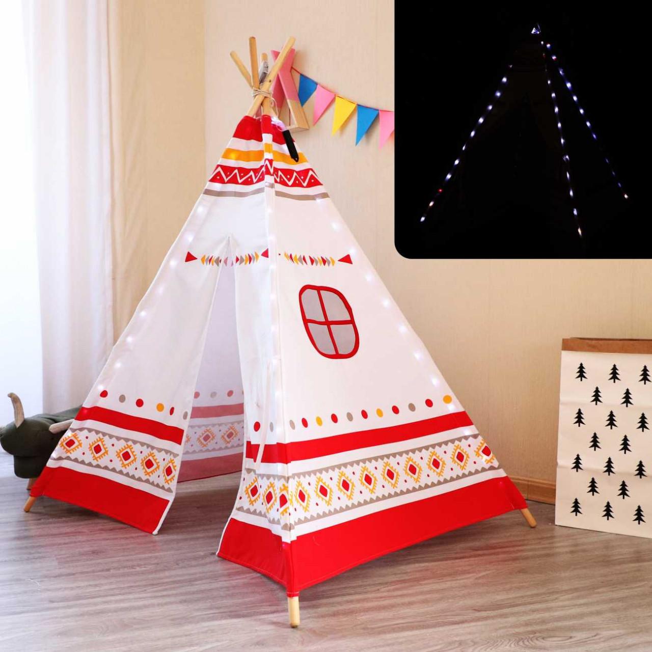Kinder Spielzelt LED Tipi Zelt, Teeepee, Indianerzelt