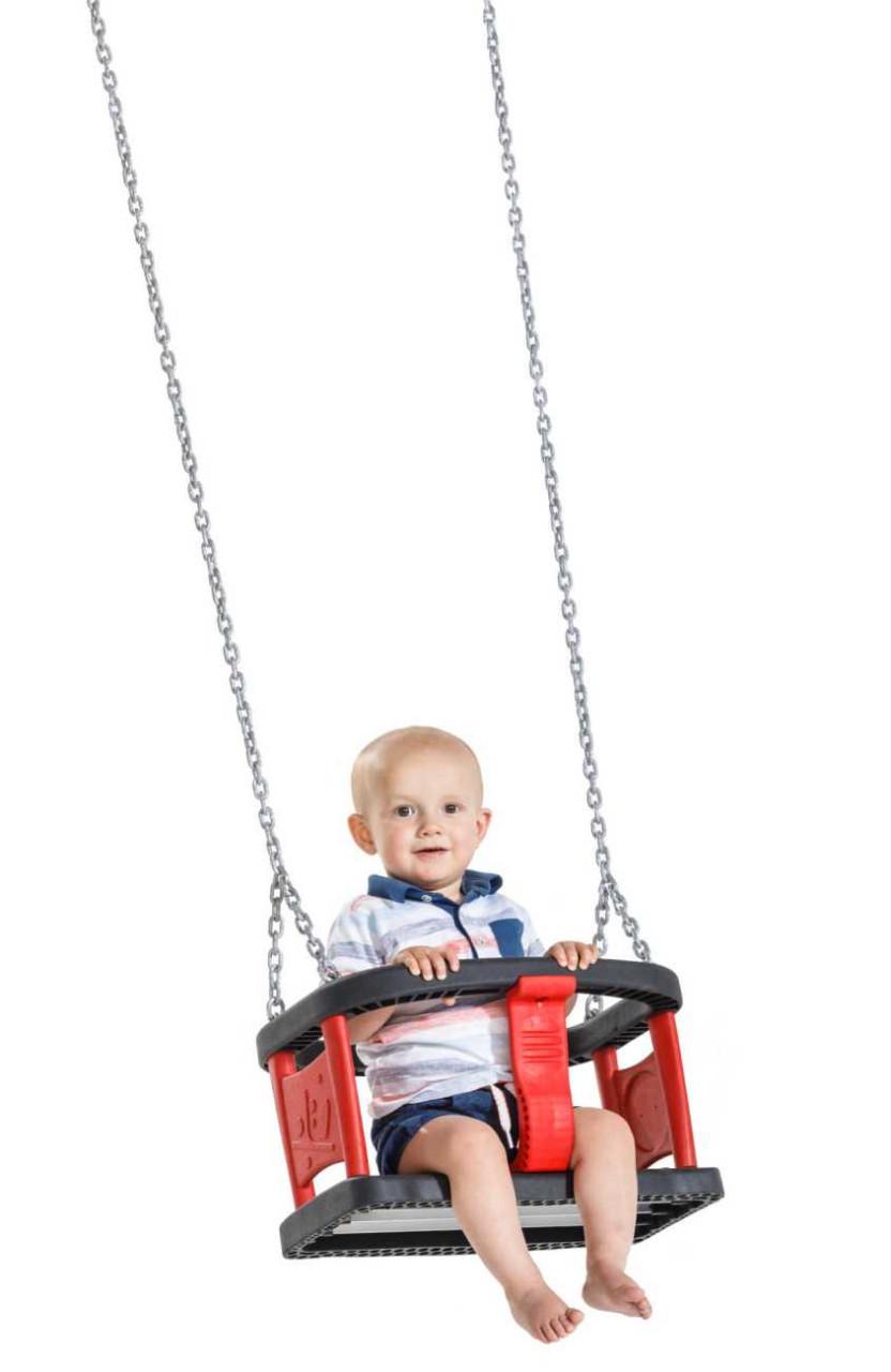 Babyschaukelsitz Curve, Kleinkindschaukel, aus Gummi, für Spielplätze