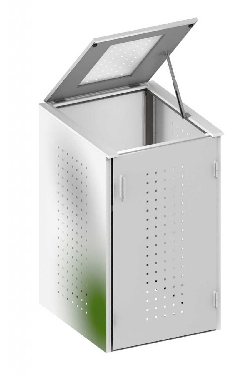 Binto Müllbox Edelstahl mit Edelstahl Klappdeckel