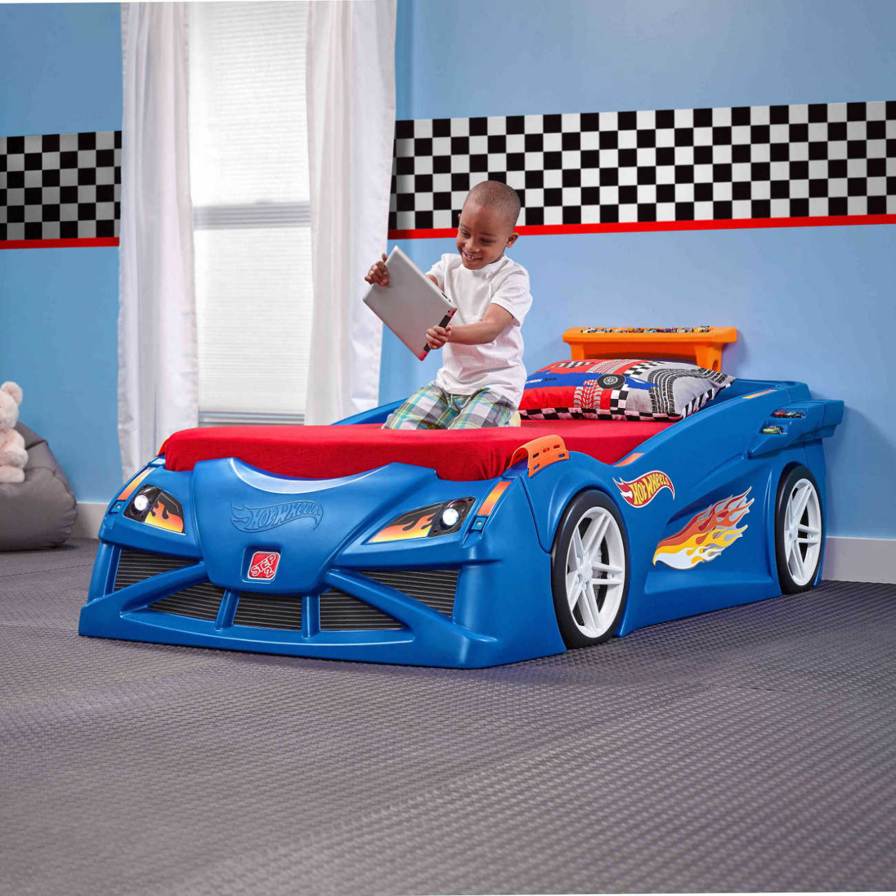 Kinderbett Hot Wheels Rennwagen
