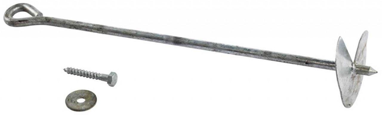 Bodenanker Schraube, zum Eindrehen, Eindrehbodenanker, für Schaukel und Spielturm