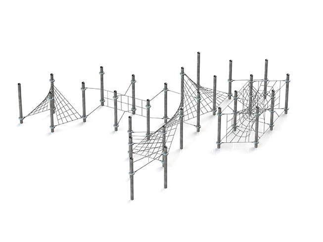 Klettergerüst Kletternetz Infinity für Klettergarten Spielplätze nach DIN EN 1176