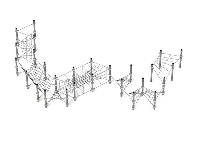 Klettergerüst Kletternetz Capella für Klettergarten Spielplätze nach DIN EN 1176