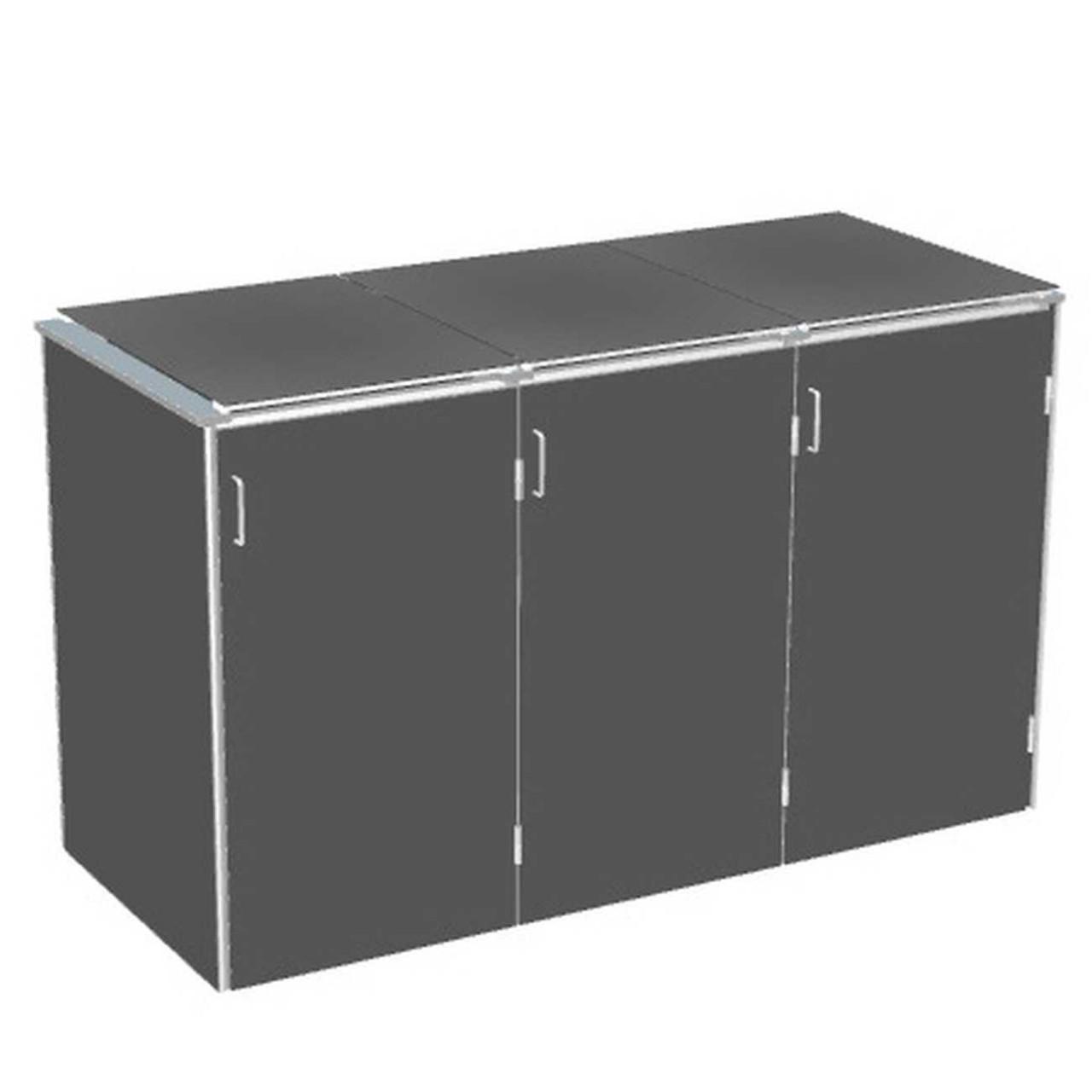 Binto Mülltonnenbox HPL Schiefer mit HPL-Klappdeckel