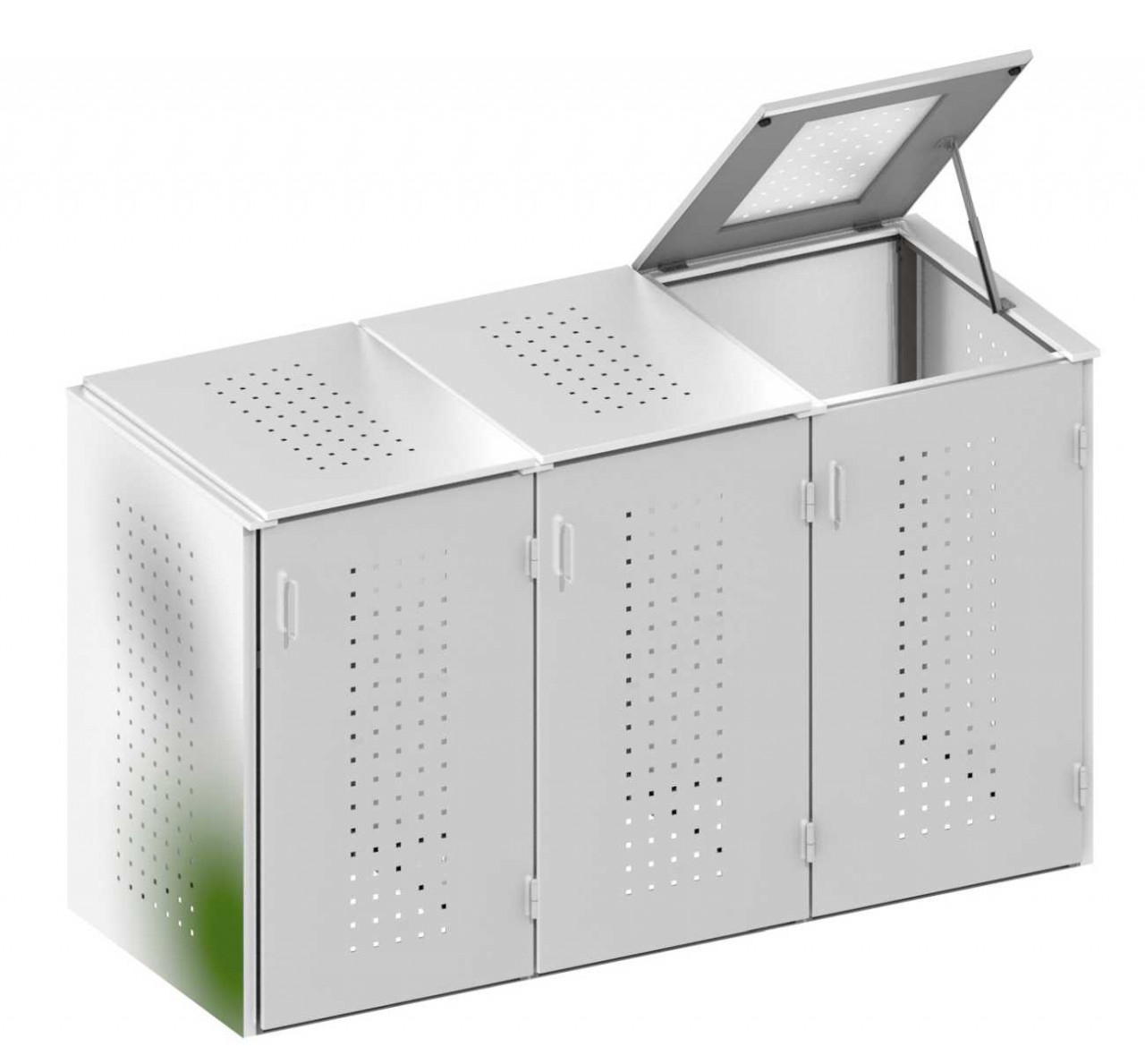 Müllbox Binto Edelstahl 3er