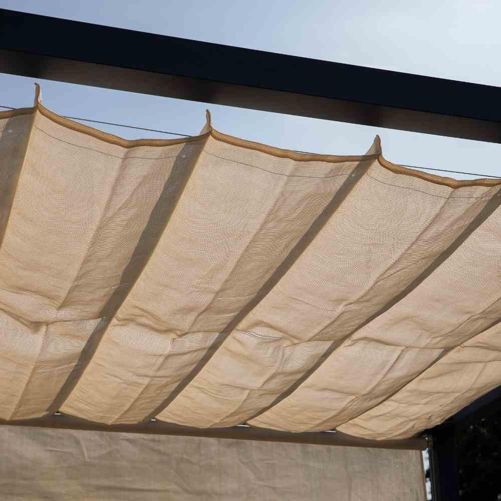Coolfit Faltsonnensegel von Nesling 370 x 370 cm, Sonnensegel, verstellbar, Sonnenschutz