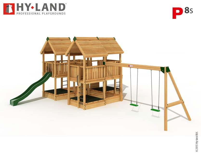 Hy-Land Spielturm P8-S mit Anbauschaukel