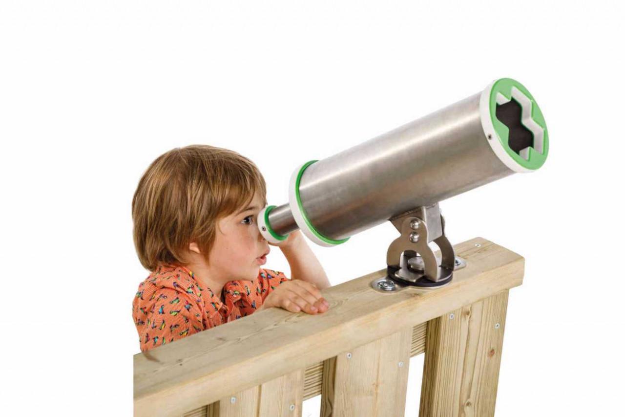 Fernrohr Teleskop X, aus Edelstahl, für öffentliche Spielplätze