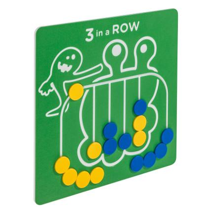 Spielwand, Spieltafel, Motorik, Kinder, 3 in einer Reihe, 3 in an Row