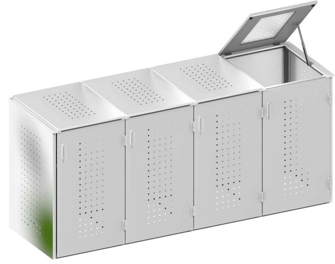 Müllbox Binto Edelstahl 4er
